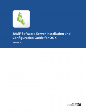 Casper Suite 9.31 JSS Installation Guide for OS X
