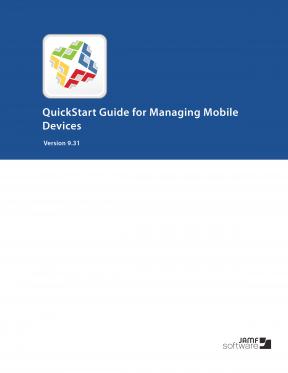 Casper Suite 9.31 QuickStart Guide for Managing Mobile Devices