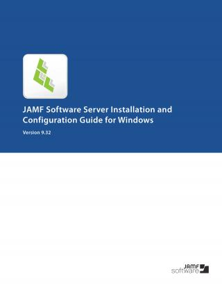 Casper Suite 9.32 JSS Installation Guide for Windows