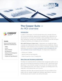 An ROI overview for the Casper Suite