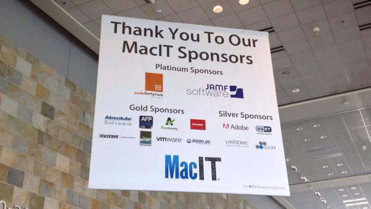 JAMF Software is proud to be a sponsor of MacIT