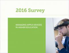 2016 Survey - Managing Apple Devices in Higher Education