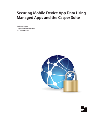 Securing Data Using Managed App and the Casper Suite v9.1 or Later