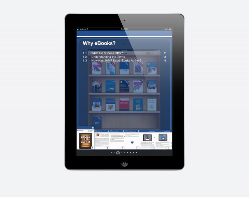 IT uploads eBooks and distributes them via Self Service to the appropriate groups of users