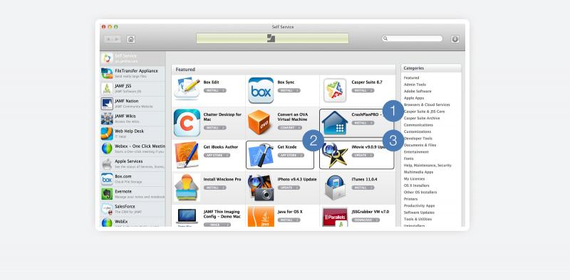 Casper Suite is a one-stop-shop for software, updates, troubleshooting tasks, and content for Macs, iPads, and iPhones