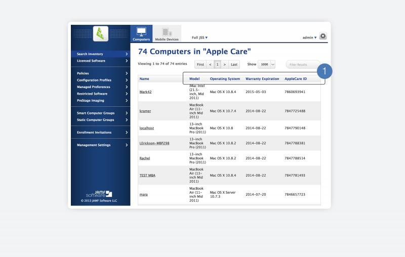 AppleCare integration: keep warranty and purchasing up-to-date with the Casper Suite